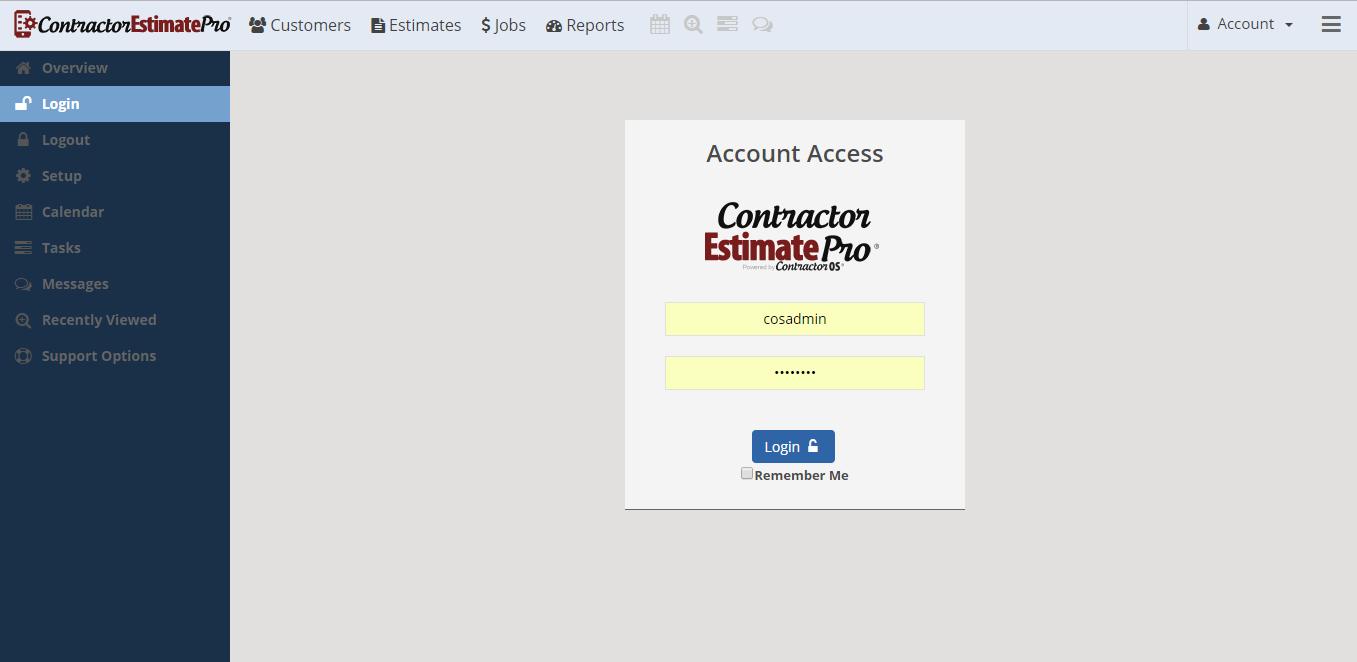 Contractor estimate pro